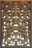 Close up of old wooden chinese window Royalty Free Stock Photos