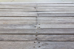Close up old wooden deck and floor Stock Photography
