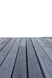 Close up old wooden deck and floor isolated. On white background royalty free stock photo