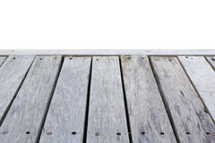 Close up old wooden deck and floor isolated. On white background royalty free stock image