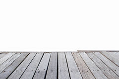 Close up old wooden deck and floor isolated Royalty Free Stock Images