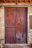Close up of an old wooden door. Royalty Free Stock Image