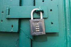 Combination padlock stock photography