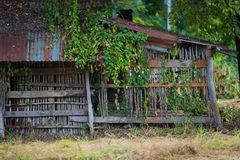 Close-up old wooden farm house Royalty Free Stock Photography