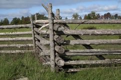 Close up of old wooden Fence Stock Photography