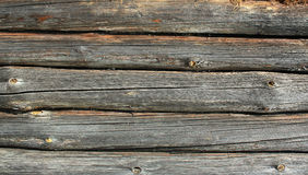 Close up of old wooden logs Royalty Free Stock Photo