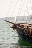 Close up of old wooden ship Stock Photos