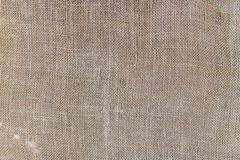Close up of a old woolen fabric of beige color. Abstract background, empty template Stock Photography