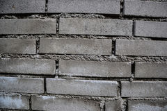 Close up of old worn brick wall background. Aged dirty stone wall textured. Vintage effect Royalty Free Stock Photography