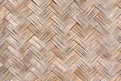 Close up old Woven flat mat  bamboo grass Stock Photos