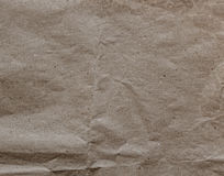 Close up of old wrinkled paper textured and background Stock Photos