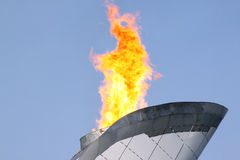 Close up of olympic fire Stock Photo