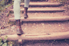 Free Close Up On Woman S Legs Walking In Nature Stock Photo - 40174430