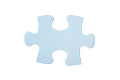 Close up of one blue puzzle piece Royalty Free Stock Photography