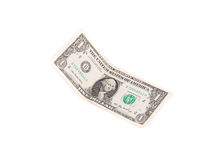 Close up of one dollar banknote. Stock Photos