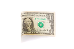 Close up of one dollar banknote. Royalty Free Stock Image
