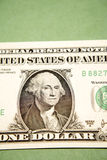 Close up of one Dollar bill Stock Photography
