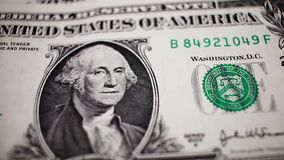 Close up of one dollar note stock footage
