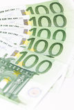Close-up of One hundred euro banknotes Stock Photos