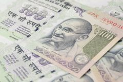 Close up of One Hundred Rupees Royalty Free Stock Photo