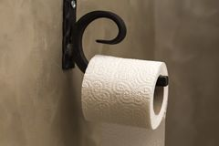 One toilet paper roll Stock Photos