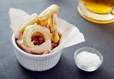 Close up onion rings Stock Photos