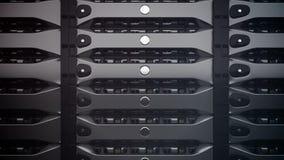 Close-up op gegevensservers De LEIDENE lichten zijn opvlammend stock illustratie