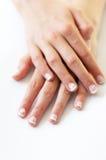 De Handen van het meisje Stock Foto