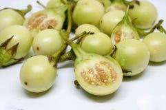 Close-up op Thaise aubergines royalty-vrije stock afbeeldingen