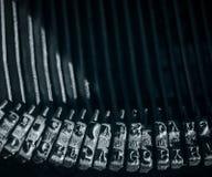 Close-up op typehamers met roman alfabet stock fotografie