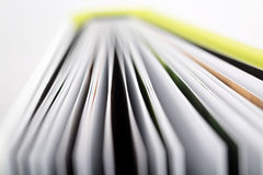 Close-up of a open book Stock Photography
