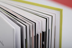 Close-up of a open book Stock Photos