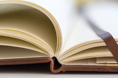 Close up on open book pages Royalty Free Stock Photography