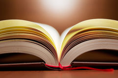Close up of open book pages. Stock Photography