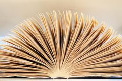 Free Close-up Open Book With Pages, Abstract Background Royalty Free Stock Image - 144899906