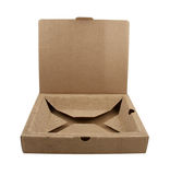 Close-up of open box made from cardboard Royalty Free Stock Photography