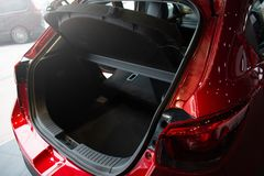 Close up open car tail light red color on service royalty free stock photography