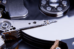 Close up of open computer hard disk drive Stock Images