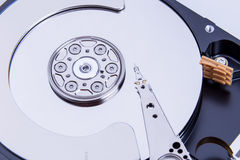 Close up of open computer hard disk drive Stock Photos