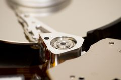 Close up of open hard disk Stock Photos