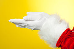 Close up of open palms of Santa Claus Royalty Free Stock Image
