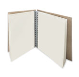 Close up of open textbook with pages. Close up of open textbook with blank pages Royalty Free Stock Photo