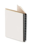Close up of open textbook with pages. Close up of open textbook with blank pages Royalty Free Stock Images