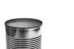 Close up open tin can of sheet Stock Photo