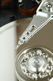 Close up of opened hard disk drive Stock Image