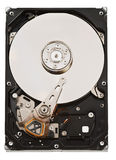 Close-up opened hard disk drive Stock Image