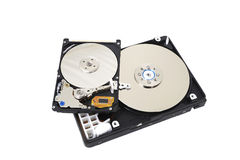 Close up of opened hard disk drive Royalty Free Stock Images
