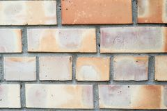 Orange brick wall background Royalty Free Stock Photography