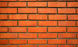 Close up of orange brick wall texture Royalty Free Stock Photos