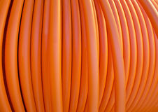 Orange cable Royalty Free Stock Images